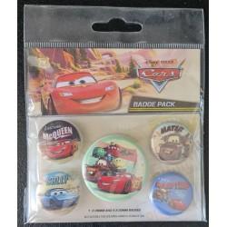 Set de 5 badges - Cars
