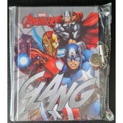 Cahier avec cadenas - Avengers