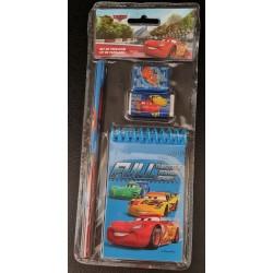Set papeterie 4 pièces - Cars