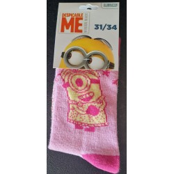 Chaussette Minions - Rose...