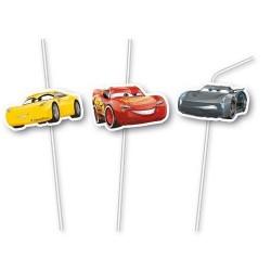 Pailles 3D - Cars 3 (Lot de 6)